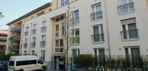 Straßenansicht des SBK-Gebäudes in der Hamborner Straße