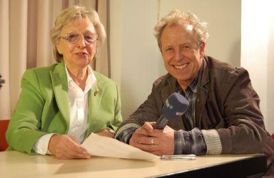 Ruth Aiblinger von Silberdistel-TV mit Gerd Krebber vom WDR