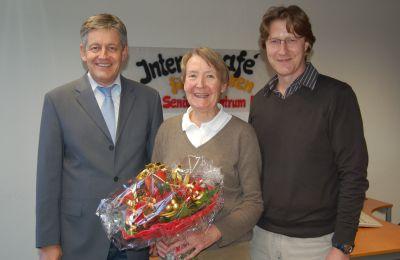 Von links: SBK-Geschäftsführer Otto B. Ludorff, Eva-Maria Hermes und ihr Nachfolger Sigurd Benedict
