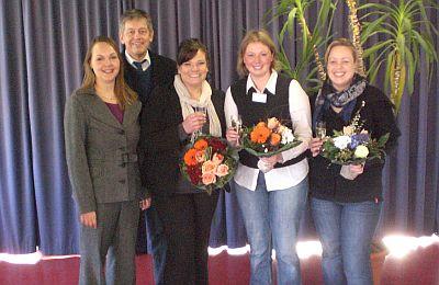 Von links: Dozentin Nicole Hasler, SBK-Geschäftsführer Otto B. Ludorff, Ina Fischer, Nicole Buddemeyer und Jessica Raabe (es fehlt Teilnehmerin Stefanie Fuchs)