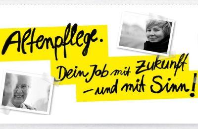 Plakatmotiv Aktion Altenpflege