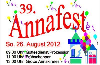 Ausschnitt Plakat Annafest