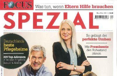 """Ausschnitt des Titelblatts der aktuellen Ausgabe des Focus Spezial """"Wohnen & Leben im Alter"""""""