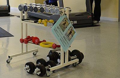 Gerätewagen mit unterschiedlichen Gewichten