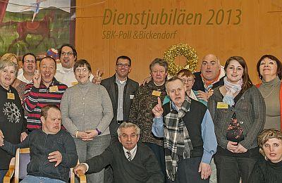 Gruppenbild bei der Feierstunde der SBK-Werkstätten