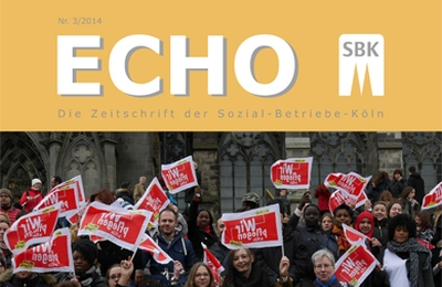 Ausschnitt des Titels des SBK-Echo Nr. 3/2014