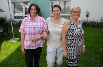 Die Betreuungsassistentinnen (von links) Helga Kusch, Sylvia Kriewe und Eyelyn Rath