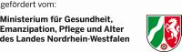 Logo gefoerdert vom Minesterium fuer Gesundheit... NRW