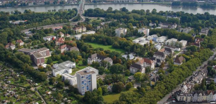 Luftaufnahme des Riehler SBK-Geländes