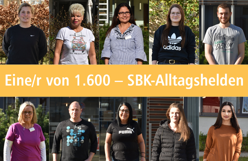 Collage mit SBK-Alltagshelden