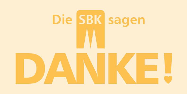 Texttafel Die SBK sagen Danke!