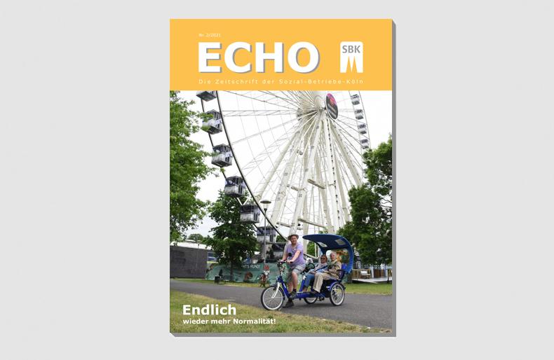Das Titelbild des neuen Echo zeigt das Riesenrad am Kölner Zoo